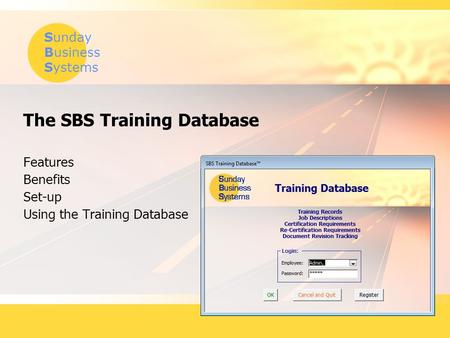 The SBS Training Database