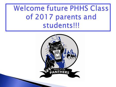 Welcome Message PHHS Overview Guidance Counselor Message Questions and Answers.