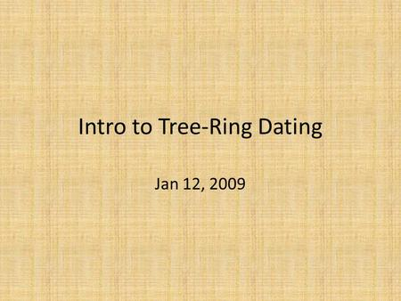 Is tree ring dating relative or absolute