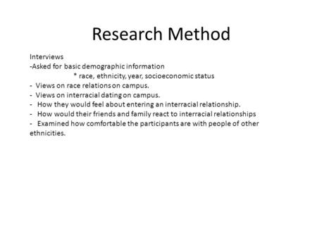 interviews as a research method