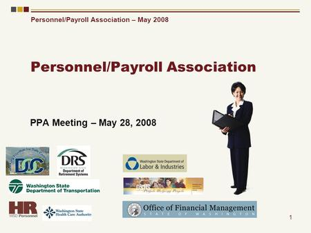 Personnel/Payroll Association – May 2008 1 Personnel/Payroll Association PPA Meeting – May 28, 2008.