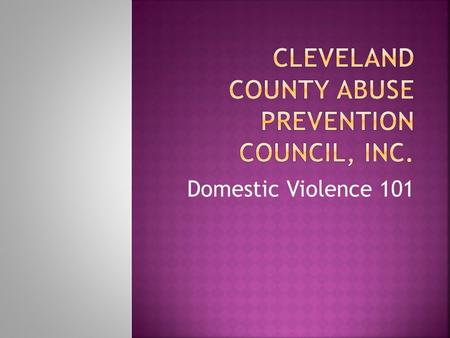 an introduction to domestic violence