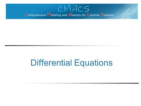 Differential Equations. Some questions odes can answer Quick example How to solve differential equations Second example.