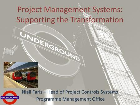 London underground lu soa and oba marc holmes architect developer and platform evangelism - Head of project management office ...