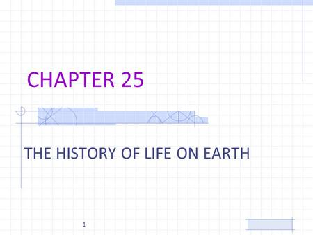 CHAPTER 25 THE HISTORY OF LIFE ON EARTH 1. Artists Conception of Earth 3 billion years ago 2.