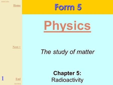 Chapter 5: Radioactivity