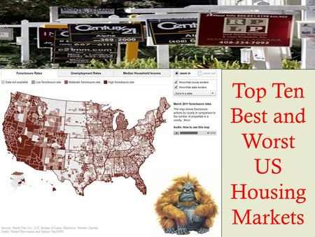 Top Ten Best and Worst US Housing Markets. GROUNDING Chapter 12 examined the patterns of settlements at a national and global scale This chapter looks.