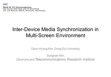 Inter-Device Media Synchronization in Multi-Screen Environment