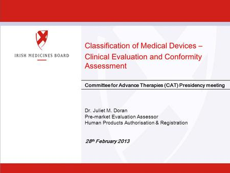 Classification of Medical Devices –
