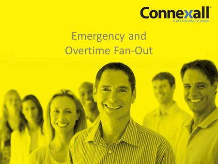 Emergency and Overtime Fan-Out. 2 9/4/2012 About Us In business since 1992 Core strength: Integrating event-driven systems with communications networks.