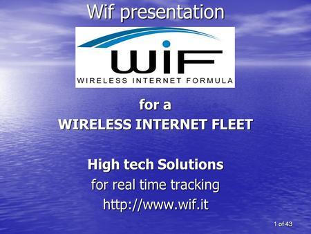 WIRELESS INTERNET FLEET