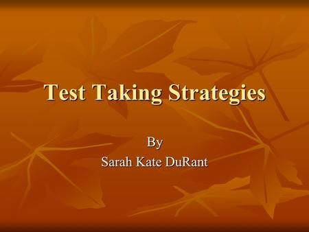 test taking strategies for writing essays
