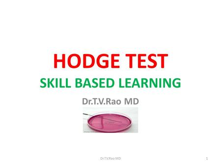 HODGE TEST SKILL BASED LEARNING