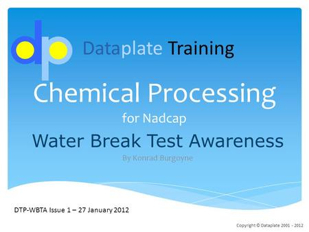 Chemical Processing for Nadcap