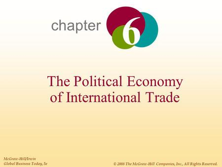 Chapter The Political Economy of International Trade McGraw-Hill/Irwin Global Business Today, 5e © 2008 The McGraw-Hill Companies, Inc., All Rights Reserved.