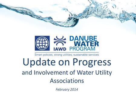 Update on Progress and Involvement of Water Utility Associations February 2014.