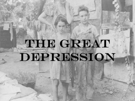The Great Depression. Business Cycle Economic Prosperity Falling Prices Economic Depresstion Rising Prices Bull Market Bear Market.