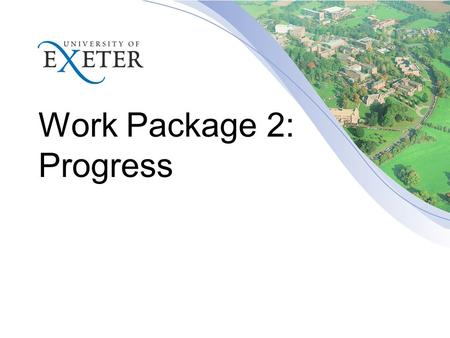 Work Package 2: Progress. Task 2.1 (D3) UNEXE EEG ESV DRES LEI ECN KAPE.