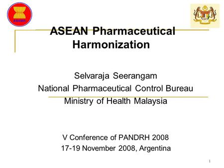 ASEAN Pharmaceutical Harmonization