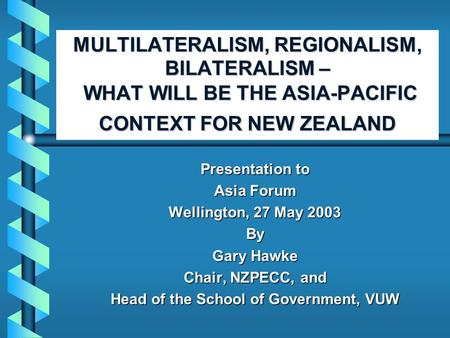 multilateralism and regionalism trade arrangements Multilateralism, regionalism and bilateralism in trade and investment 2006 world report on regional integration editors: de lombaerde, philippe (ed.