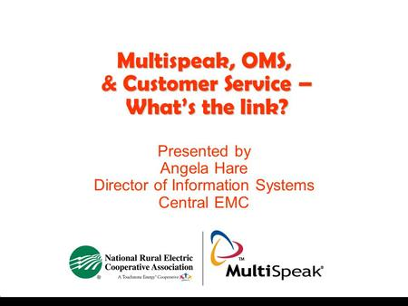 Multispeak, OMS, & Customer Service – What's the link?