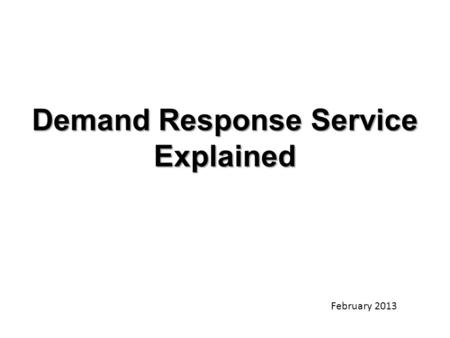 Demand Response Service Explained