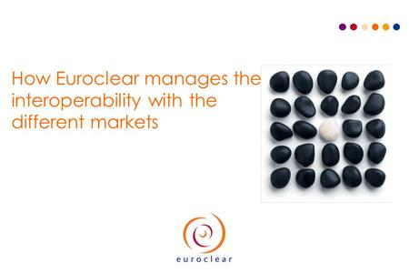 How Euroclear manages the interoperability with the different markets.