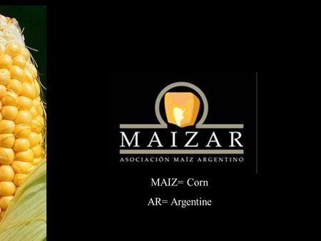 1 MAIZ= Corn AR= Argentine. 2 M A I Z A R Association of Argentine Institutiones and Businesses related to the Corn Value Chain. Increase profits of links.