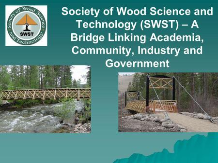 Society of Wood Science and Technology (SWST) – A Bridge Linking Academia, Community, Industry and Government.