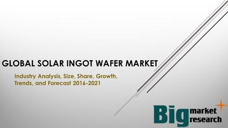 GLOBAL SOLAR INGOT WAFER MARKET Industry Analysis, Size, Share, Growth, Trends, and Forecast