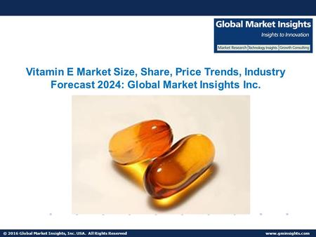 © 2016 Global Market Insights, Inc. USA. All Rights Reserved  Fuel Cell Market size worth $25.5bn by 2024 Vitamin E Market Size, Share,