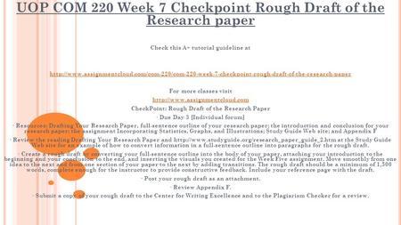 COM 220 Uop courses/Uophelp Essay