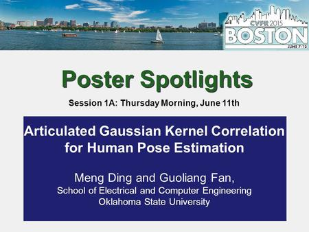 Articulated Human Pose Estimation using Gaussian Kernel Correlation