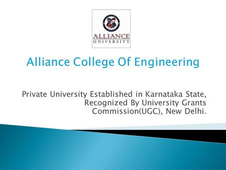 Alliance College Of Engineering
