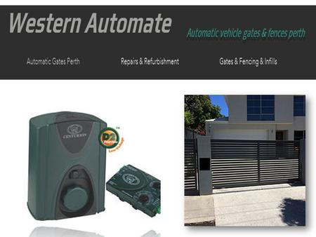 Get Automatic Sliding Gates Service & Repair in Perth at Best Price
