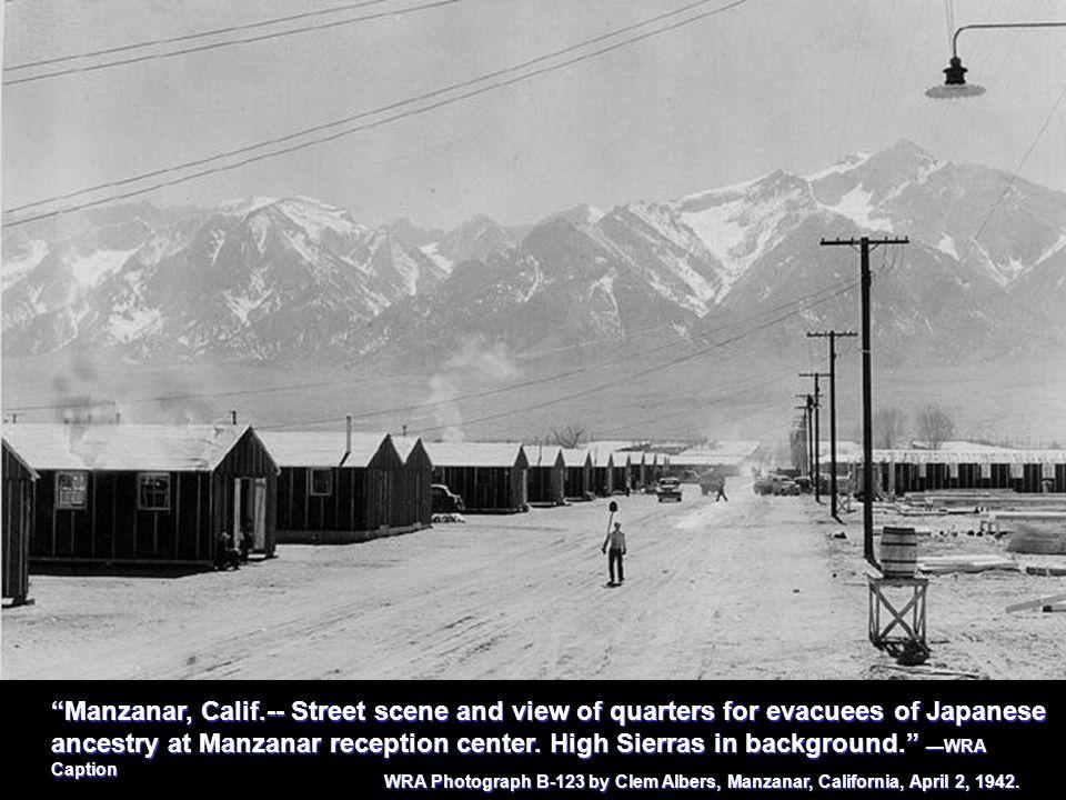 Manzanar, Calif.Dr.