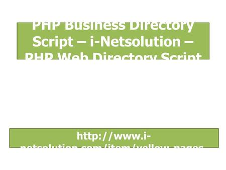 PHP Business Directory Script – i-Netsolution – PHP Web Directory Script  netsolution.com/item/yellow-pages- clone/