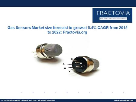 © 2016 Global Market Insights, Inc. USA. All Rights Reserved  Fuel Cell Market size worth $25.5bn by 2024 Gas Sensors Market size forecast.