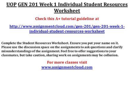 gen201 academic success