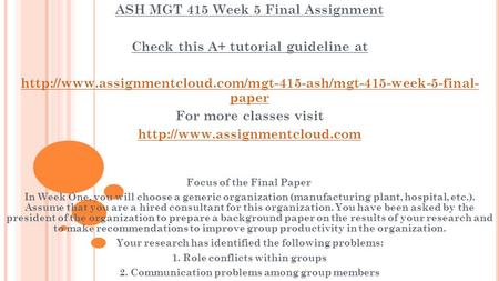 mgt 415 final Definitions of compensation for retirement plans june 20, 2012  the basics (w-2, withholding and 415 safe  in the 'final paycheck' in the first week.