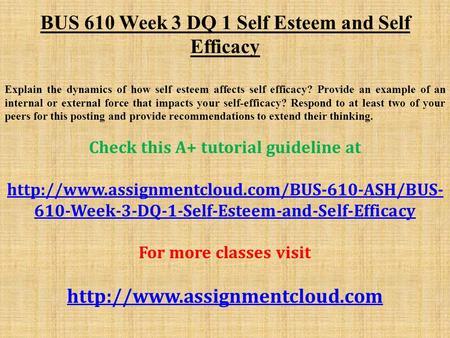 internal self esteem