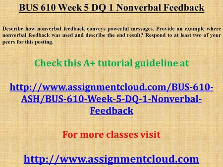 bus610 week 3 discussion 2 Home / business and management / bus610 week 4 assignment: business ethics bus610 week 4 assignment: assignment frequent shopper program 1 eco 561 week 3 team.