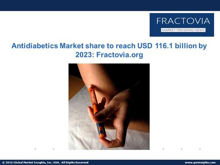 Antidiabetics Market size in Europe forecast to 9% growth from 2016 to 2023