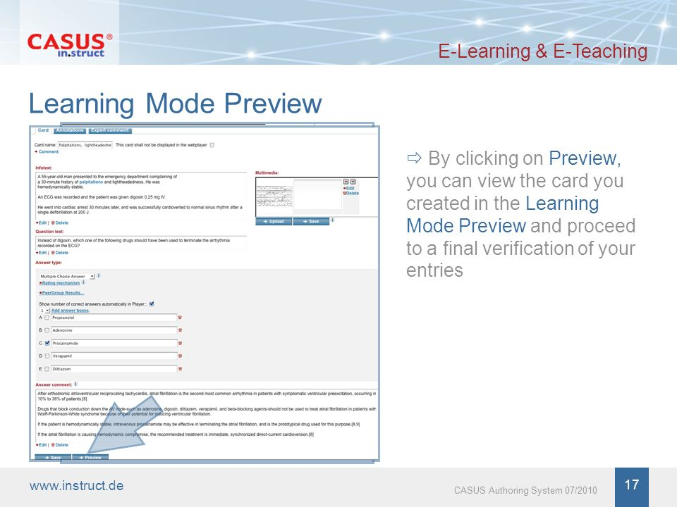 www.instruct.de 18 CASUS Authoring System 07/2010 Thank you for your attention.