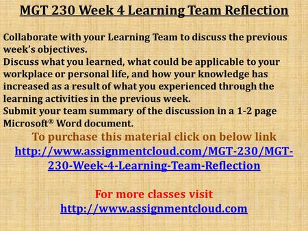mgt 311 week 3 reflection Immersion week reflection portfolio essay week five reflection brandie logsdon psy/103 may 12 reflection week 5 essay reflection week 5 mgt/311.