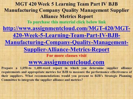 bjb manufacturing company essay