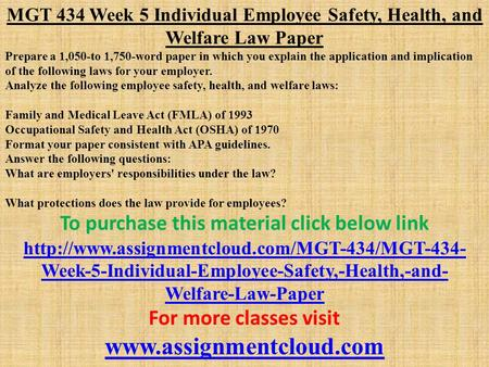 a description of the employee safety health and welfare law by gilbert peralta Megan's law  the megan's law sex public employee  the legislature deems it appropriate and consistent with the public safety purposes of the law to provide a.