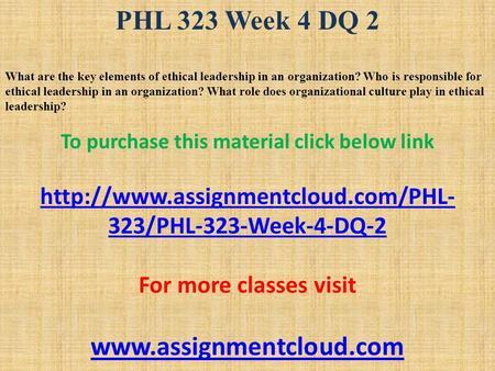phl 323 week 4 system of
