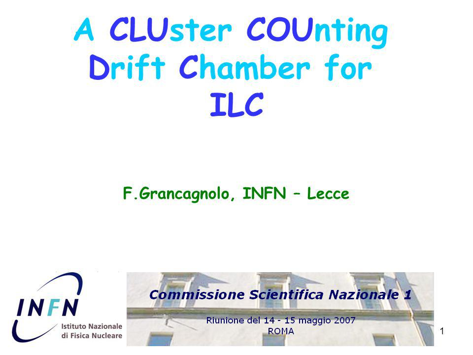 2 outline Requirements for tracking at ILC Cluster Counting 4 th Concept CLUCOU Drift Chamber 4 th Concept MUon Detector F.
