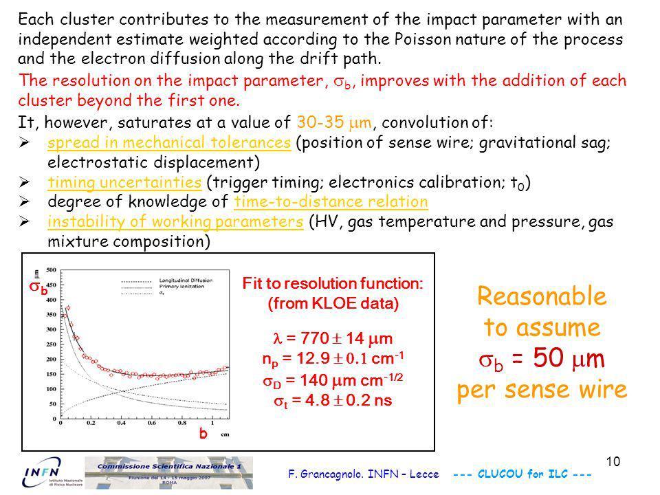 11 Particle Identification gas mixture = 95%He+5%iC 4 H 10 N cl = 10/cm beam test measurements p = 200 MeV/c experiment : theory: trunc.